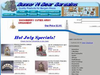 Bunny 'N Bear Bargains Website
